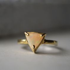 Opal Trillion Ring by ATELIER Gaby Marcos