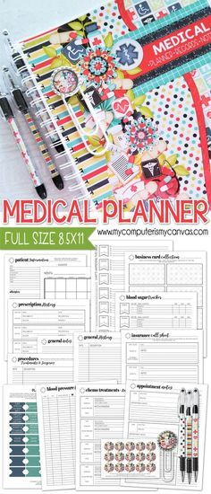 Medical Information Tracker  Health And Medical Printable