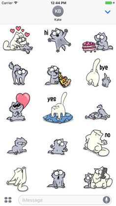 here's over 20 PAWsome Simon's Cat animated stickers featuring everyone's favourite ball of fluff – Kitten Simons Cat, Cat Doodle, Doodle Art, Fluffy Kittens, Cats And Kittens, Warrior Cats Art, Cat Comics, Cat Character, Character Design Animation