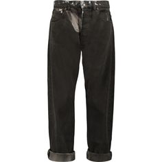 McQ Alexander McQueen Washed high-rise boyfriend jeans ($175) ❤ liked on Polyvore featuring jeans, pants, bottoms, dark gray, high-waisted jeans, highwaist jeans, high waisted jeans, mcq by alexander mcqueen and cuff jeans