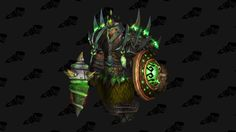 """Despite all the prejudice dwarves suffer in and outside the game, I like 'em a lot. Thyroz had to come to life as a shaman, a class that I feel kind of empowering to these """"condensed"""" beings... Elemental and Restoration were equally played and enjoyed with him. This green finished xmog is based on Lich King's raids - except the SoO mace, my favorite piece with the matching shield. I just can't stand the dwarves laughter, although they make good jokes."""