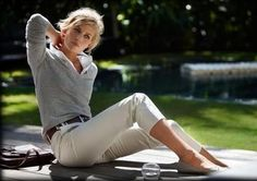Audrey-If she's a strong mom-like character, then she should wear capri's. She has to be a little elegent/work tough