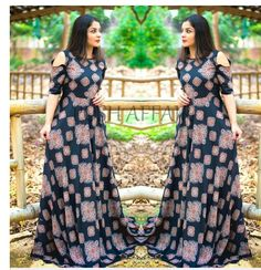 Bilderesultat for posh affair dresses Frocks And Gowns, Maxi Gowns, Indian Attire, Indian Outfits, Indian Wear, Ethnic Fashion, Indian Fashion, Casual Gowns, Kalamkari Dresses
