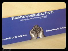 Custom Printed Collection Box Labels for the Thomson Memorial Trust - - - - - A charity helping loved ones in need with bereavement costs and doctors bills as a result of an accident when needed. - - - - - Find out more about Charnwood Catalogue's custom printed collection bucket labels here: http://www.charnwood-catalogue.co.uk/products/256-custom-printed-collection-box-labels
