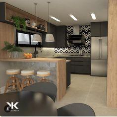 Trendy home garden diy people ideas Kitchen Room Design, Home Decor Kitchen, Kitchen Interior, Interior Design Living Room, Smart Kitchen, Kitchen Sets, Kitchen Dining, Minimalist Kitchen, Trendy Home