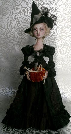Tituba OOAK witch art doll halloween by freakylittlethings on Etsy, £125.00