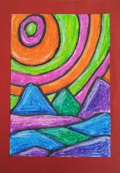 dreampainters (2011): Alien Landscape. 2011. Oil pastel and black ink.