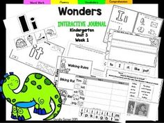 "This Kindergarten interactive journal is aligned to Common Core and to the McGraw Hill Wonders series for Unit 3-Week 1. This 16 page highly INTERACTIVE journal is ideal for teaching all of this week's skills in a powerful, student-friendly way!Complete Set Includes:-Mini Anchor Chart/Activities for Letter ""Ii"",and Genre (Fantasy) -""Ii"" Handwriting Practice-Foldable for ""Be Safe""-High Frequency Words-Vocabulary Activity-Cut and Paste Sentence Building-Cut and Paste Word Building -Writing-Rec..."