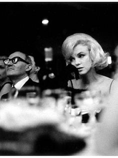 Marilyn Monroe and Lee Strasberg at the Actor's Studio Benefit, Roseland Dance Hall, NYC, March 13th 1961