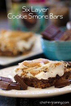 Six Layer Cookie S'more Bars!