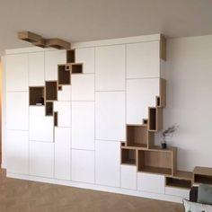 Latest project AMSTERDAM - Multifunctional wall cabinet : storage • office • lighting • media ------------------------------------------ #filipjanssens #belgiandesign #interiordesign #furniture #multifunctionaldesign #architecturaldesign #instadecor #geometric #decor #furnituredesign #madetomeasure