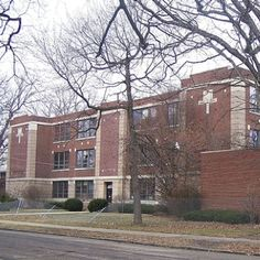Massillon, Ohio, Longfellow School - 7-9 junior high at the time, now gone.  One of so very many shortsighted demolitions in Massillon, Ohio...