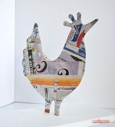 mollymoo.ie - My Posh Hens – new papier mache craft