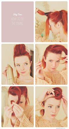 Pin-up hair  - This is also perfect for my hair..