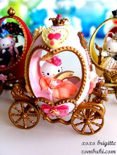 Hello Kitty Faberge Eggs: French Princess by pbrigitte zombuki, via Flickr