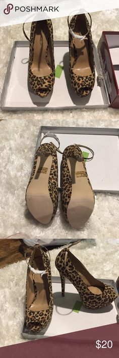 New size 8 breckelle 6 inch heel- leopard New size 8 breckelle 6 inch heel- leopard .  Got these to wear Halloween last year but never wear them Breckelles Shoes Heels