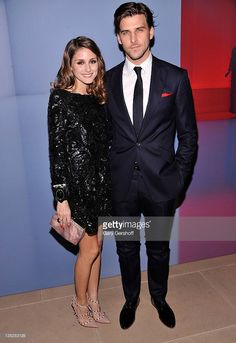 2011 Olivia Palermo (L) and Johannes Huebl attend the Valentino Garavani Virtual Museum Launch party at the IAC Headquarters on December 7, 2011 in New York City.