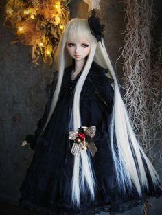 VisuaDoll Moegi Basic Dress Coordination Set Black 50cm Obitsu body #VisuaDoll #DollswithClothingAccessories