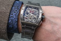 Richard Mille RM 011 Felipe Massa Watch With New Titanium Bracelet
