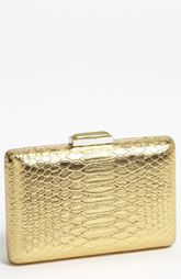 Expressions NYC Snake Embossed Box Clutch