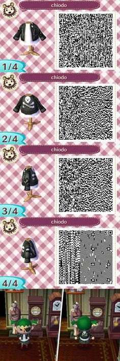 Animal Crossing QR Code Punk Leather Jacket