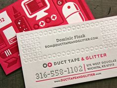 Duct Tape and Glitter - edge painted business cards