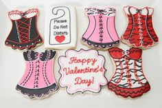 Valentine / Lingerie cookies by The Pink Mixing Bowl!