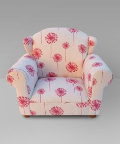 Take a look at this Pink Dandelion Wingback Chair by Funky Kids by Mauricio's Furniture on #zulily today!