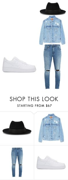 """future"" by altravious on Polyvore featuring Maison Michel, MANGO MAN, Neuw denim, NIKE, men's fashion and menswear"