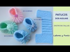 How to knit two-needle booties-Various sizes- Work and Pun … – Shoes World Baby Booties Knitting Pattern, Crochet Baby Booties, Baby Knitting Patterns, Hand Knitting, Lace Patterns, Crochet Patterns, Cross Stitch Baby, Baby Sweaters, Creations