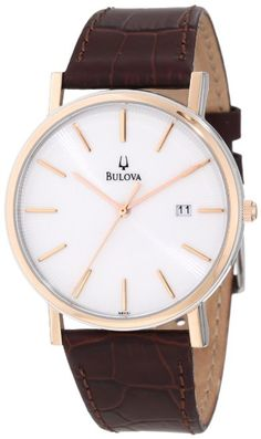 Amazon.com: Bulova Men's 98H51 Strap Calendar Strap Watch: Bulova: Watches
