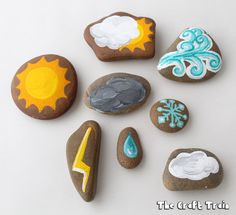 story stone craft with a weather theme
