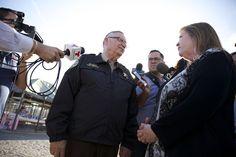 Bernie Sanders' Wife, Jane, Tours Tent City, Challenges Sheriff Joe Arpaio On Racial Profiling | Phoenix New Times - 3/15/2016