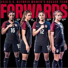 Forwards. 2016 Olympic team. (U.S. Soccer)