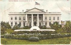 1908 Antique Postmarked Postcard THE WHITE HOUSE Washington D.C. Picture Photo