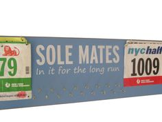 race bibs and race bibs and medals holder   by runningonthewall, $44.99