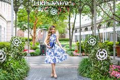 Shall We Sasa blue floral shirt dress