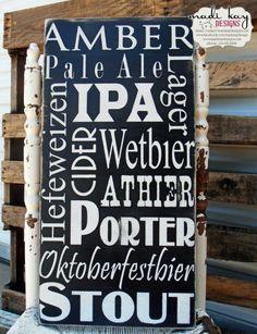 Beer Wall Decor pub decor / pub sign / beer sign / bar sign / rustic wall decor