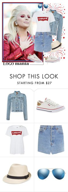 """As American as the Star Spangled Banner"" by krusie ❤ liked on Polyvore featuring Levi's, Vetements and X-Ray"
