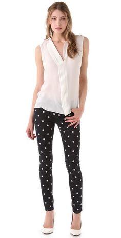 Paige Denim Polka Dot Verdugo Skinny Jeans