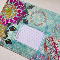 Mail art using Art Fusion Stamps (and Rae Missigman's Happenstance stencils at Stencil Girl