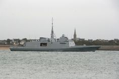 First voyage for the new French Marine Nationale FREMM Frigate FS Normandie. FREMMs stand for European Multi Mission Frigate - a collaboration with Italian yards, to produce an economic frigate, that with modular construction can be theoretically easily converted to more specialist roles if needed, such as anti submarine or anti air for eg.