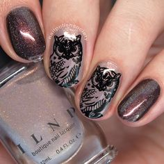 Nail Polish Society>> UberChic Beauty Lovely Leaves   Who Gives A Hoot   Zombie Love Stamping Plate Review