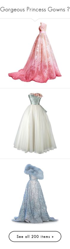 """""""Gorgeous Princess Gowns 💕"""" by renete ❤ liked on Polyvore featuring dresses, gowns, long dress, satinee, nicolas jebran, long dresses, nicolas jebran dresses, vestidos, long white dress and strapless dresses"""