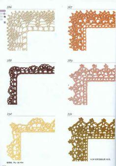 Coisas da Léia: Vários Bicos de Crochê
