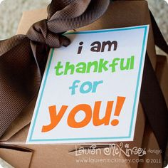 I am thankful for you gift tags!
