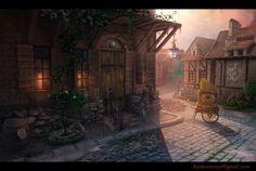 Medieval France by Ihor Reshetnikov Fantasy Town, High Fantasy, Medieval Fantasy, Fantasy World, Fantasy Art, Chroma Key, Decoration Pirate, Episode Backgrounds, Fantasy Pictures