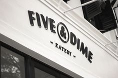Five & Dime Eatery identity