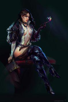 Yennefer of Vengerberg by SombraSister on DeviantArt Yennefer Witcher, Yennefer Cosplay, Yennefer Of Vengerberg, Triss Merigold Witcher 3, Witcher 3 Armor, The Witcher Game, Witcher Art, Fantasy Art Women, Fantasy Girl