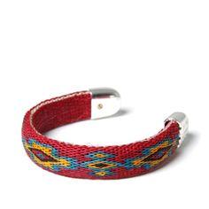 Chamula Bendable Bracelet (Red, Yellow & Turquoise )